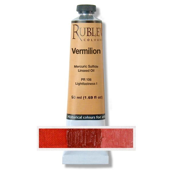 Rublev Colours Vermilion Artist Oil Paint 50ml