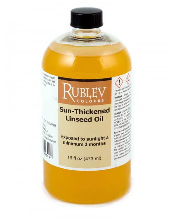 Sun Thickened Linseed Oil  Oil Painting Medium   Natural ...