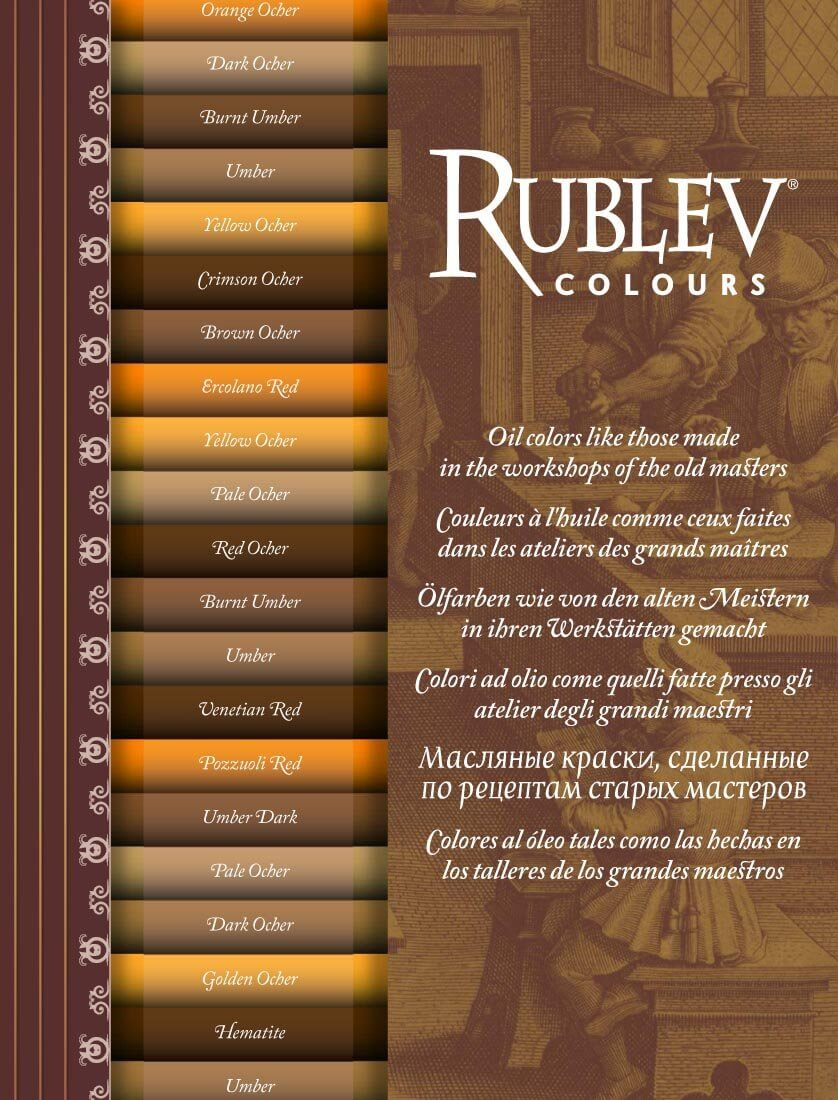 Rublev colours artists oil color chart natural pigments rublev colours artists oil color chart page 1 nvjuhfo Image collections