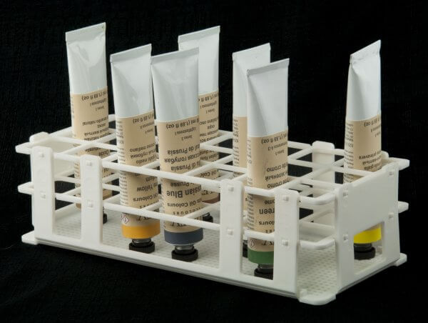 Tube Rack with Oil Color Tubes (not included)