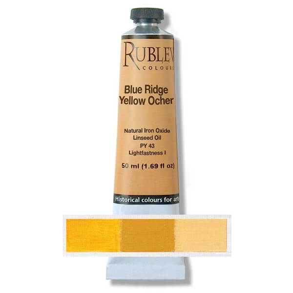 Rublev Colours Blue Ridge Yellow Ocher Oil Paint (50 ml)