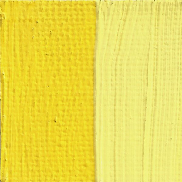 Rublev Colours Lead-Tin Yellow Artist Oil (Swatch)