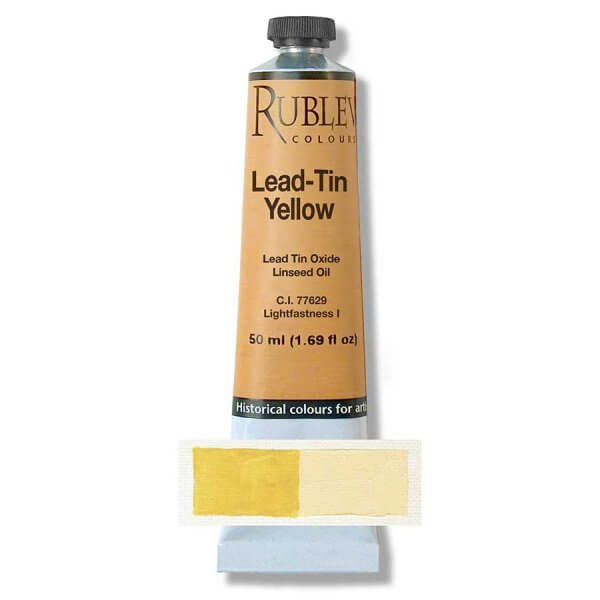 Rublev Colours Lead-Tin Yellow Artist Oil (50ml)