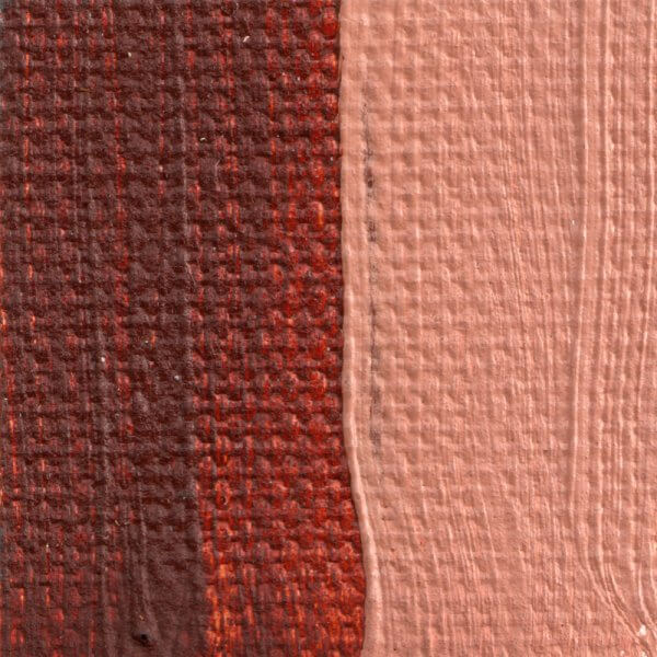 Italian Burnt Sienna Oil Paint Color Swatch