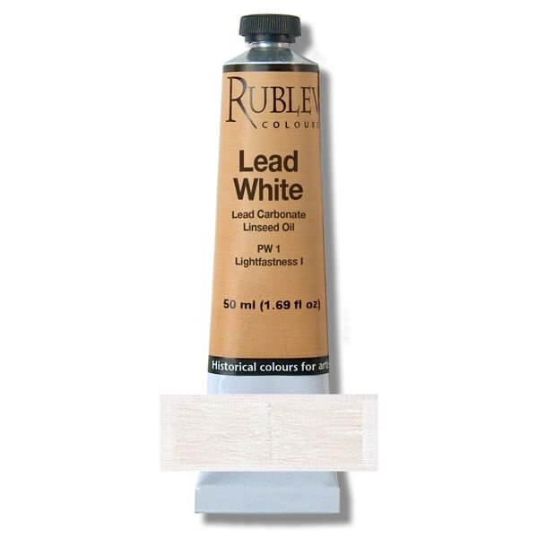 Rublev Lead White Oil paint tube 50ml