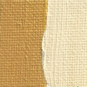 Rublev Colours Naples Yellow Paris (Lead Antimonate) Oil Paint Swatch