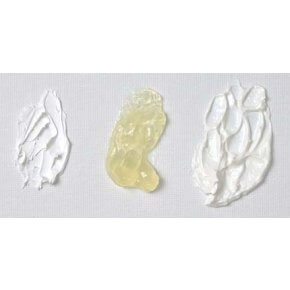Left to Right: Lead White, Oleogel and Lead White and Oleogel