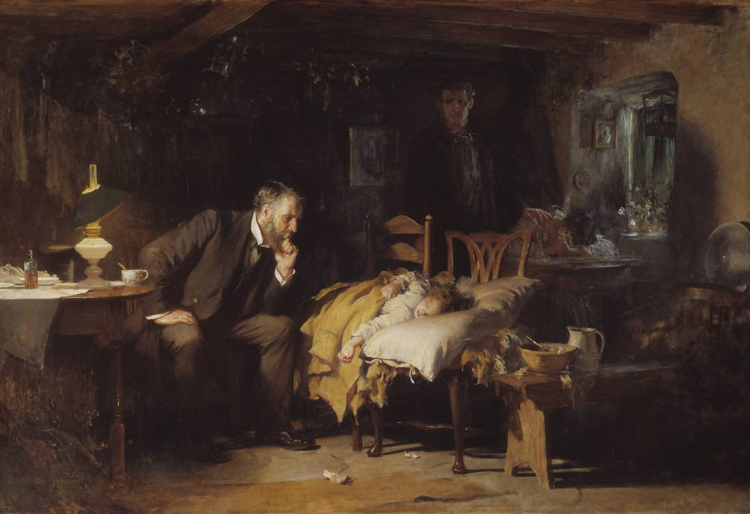 Luke Fildes' 1890 painting of The Doctor