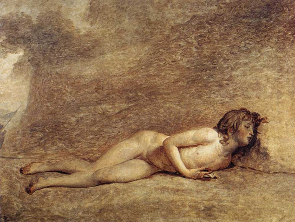 Jacques-Louis David, The Death of Bara, 1794, oil on canvas, 46.8 x 61.4 inches