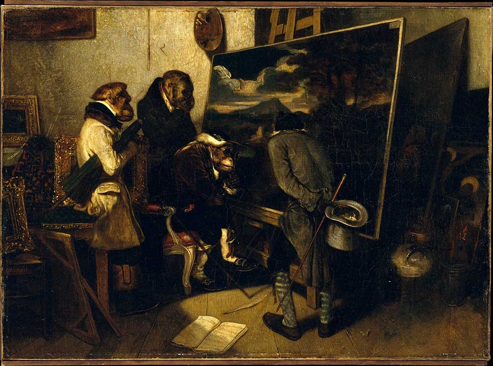 Alexandre-Gabriel Decamps, The Experts, 1837, oil on canvas, 18.25 x 25.25 inches