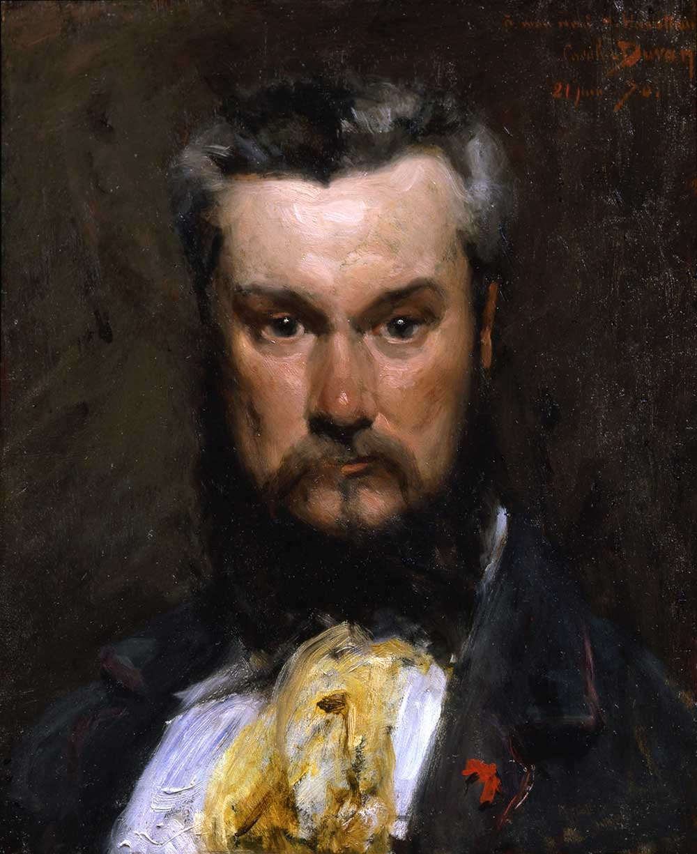 Carolus-Duran, Portrait of Hector Hanoteau, 1870, oil on panel, 23.5 x 20 inches