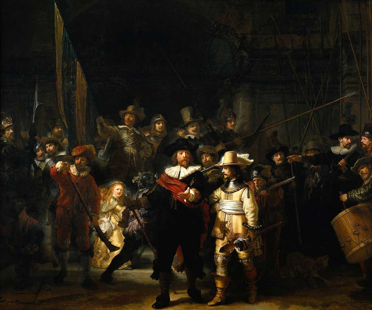 Rembrandt van Rijn, The Night Watch, 1642, oil on canvas, 142.9 x 172 inches