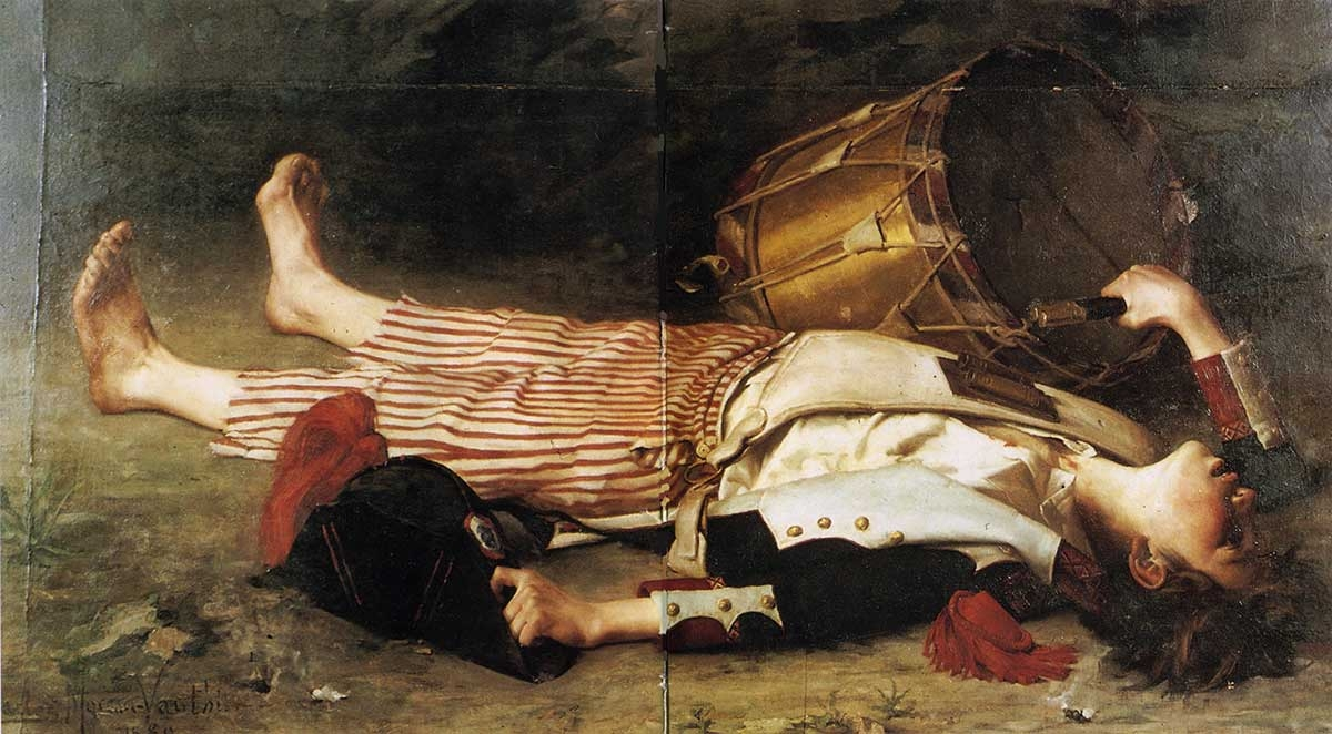 Charles Moreau-Vauthier, The Death of Joseph Bara, 1880s, oil on canvas