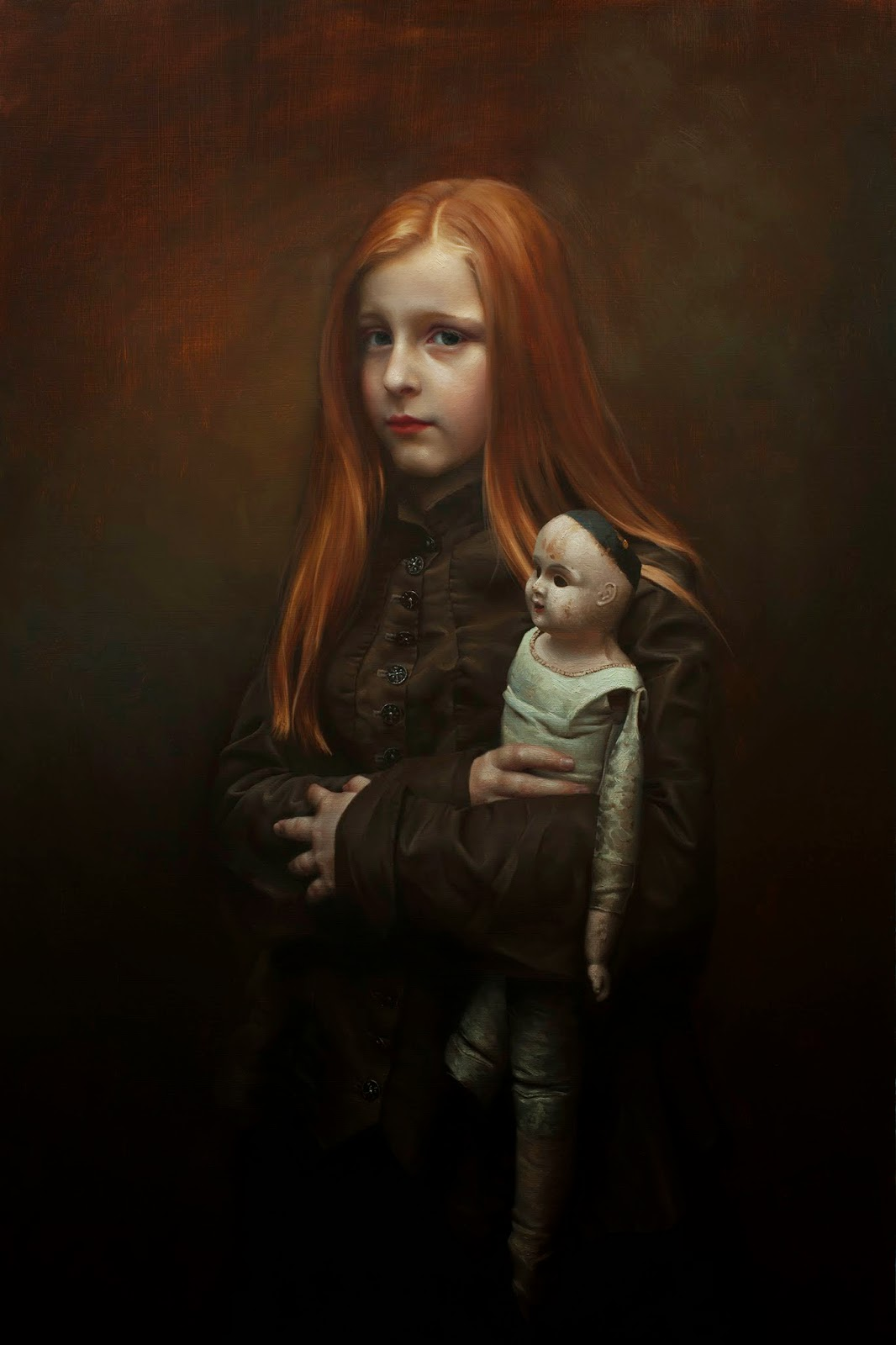 Poppet, Katherine Stone, 2015, oil on panel, 20 x 30 inches