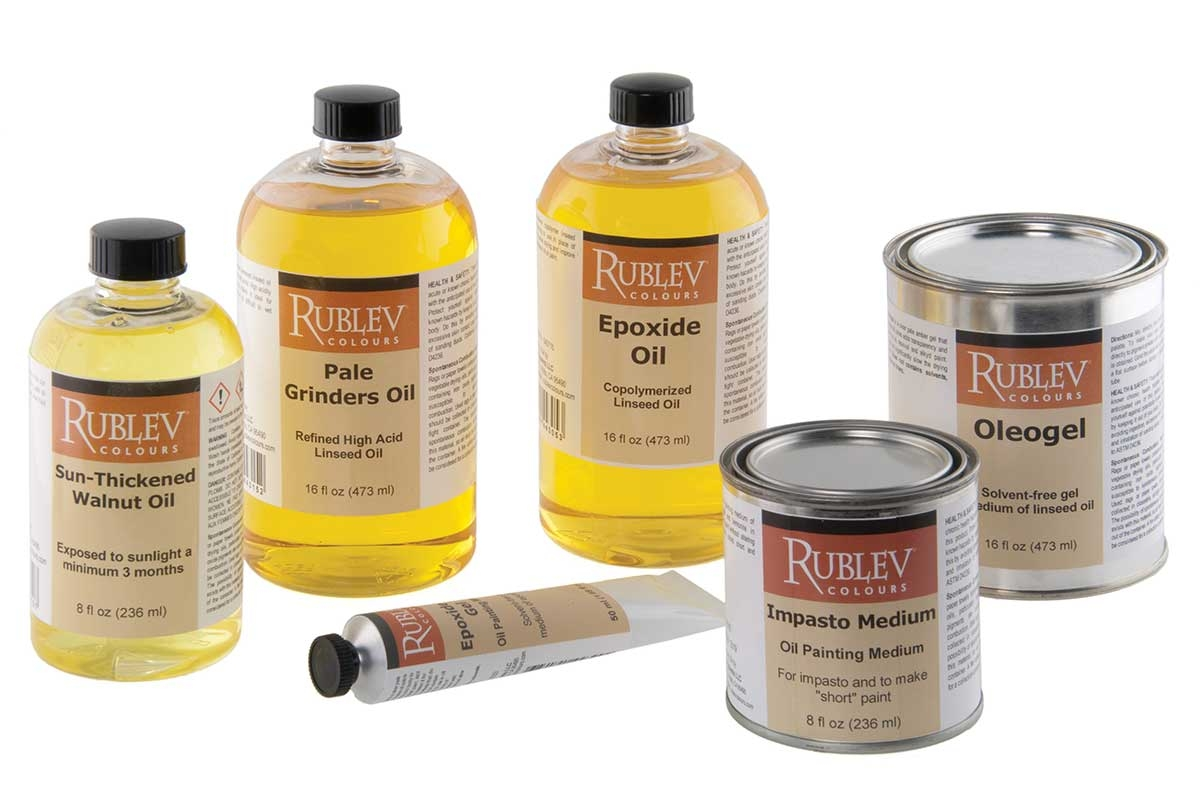 Rublev Colours oil painting mediums, artist oils and supplies